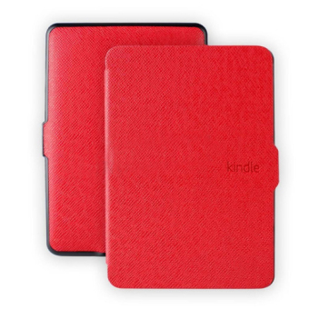 Harga GAKTAI Leather Smart Tablet PC Case for Amazon Kindle Paperwhite (Red)