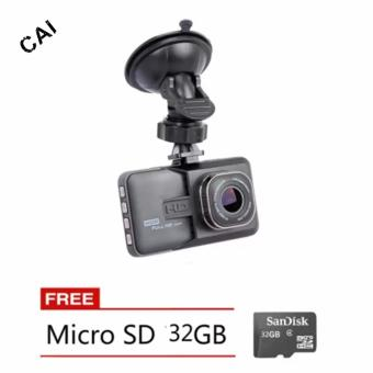 Harga CAI-616 1080P HD Dashboard Dash Camera with Free Micro SD 32GB