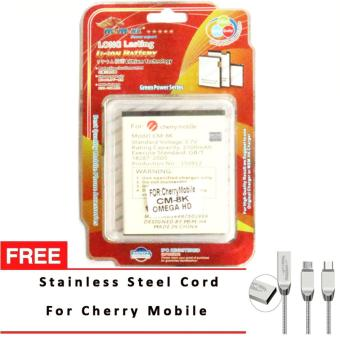 Harga MSM HK Battery for Cherry Mobile CM-8K OMEGA HD with Free Stainless Steel USB Cord for Cherry Mobile