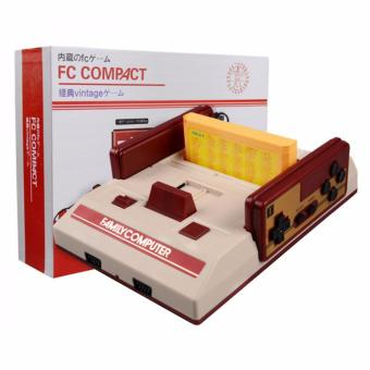 Harga Family Computer FC Compact Vintage Game Console Built in 100 Games and 132 in 1 Game Cartridge (Red/Off-White)