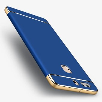 Harga For Huawei P9 Phone Case Phone Cover Fully Protect Design + Tempered Glass Film (Royal Blue) - intl