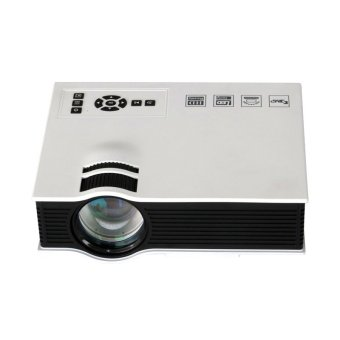 Harga 1800lumens LED Mini Home Multimedia Projector 1080P HD HDMI USB Video (White)