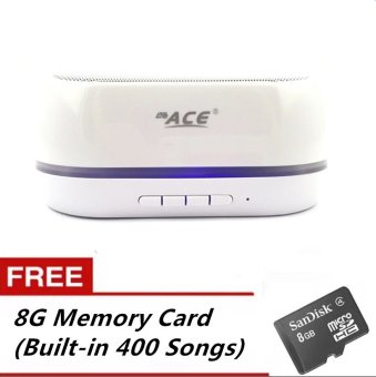 Ace BT-06 Shining Bluetooth Speaker with USB/Radio (White) FREE 8G Memory (Built-in 400 Songs) Price Philippines