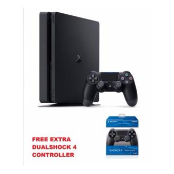 Sony PlayStation 4 Slim 500GB (Jet Black) with Free Extra Orig sony Controller Price Philippines