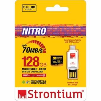 Harga Strontium Nitro 128gb Micro SDXC 70mbps UHS-1 Class 10 with OTG Card Reader
