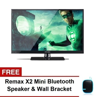 My View 19\ LED TV Black 19PX200 with FREE Remax X2 Mini Bluetooth Speaker and Wall Bracket""