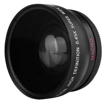 Harga 2-in-1 55MM 0.45X Wide Angle Macro Camera Lens with Two Cap - intl