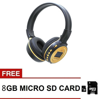 Harga KDS N65 Digital Over-the-Ear Headset (Black/Gold) with Free 8GB Micro SD Card