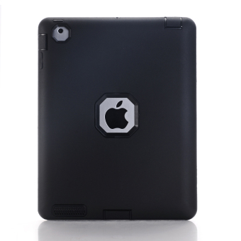 Heavy Duty Dust ShockProof Rubber Hard Case For iPad 2/3/4 (Black) - intl Price Philippines