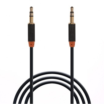 Harga LC 2 Pack 1.0 Meter 3.5mm Male To Male Stereo Auxiliary Aux Audio Cable Gold Plated Plugs for iPhone, iPad, iPod, Smartphone, Tablet and MP3 Player (Black)