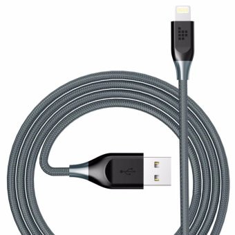 Harga Tronsmart 4ft Nylon Braided Kevlar Lightning Cable Apple MFi Certified