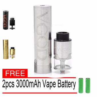 Harga VGOD E-Cigarette Pro Styled Mechanical Mod with pro 24mm rdta atomizer Ecig Kit black (Silver) With Free pcs Battery