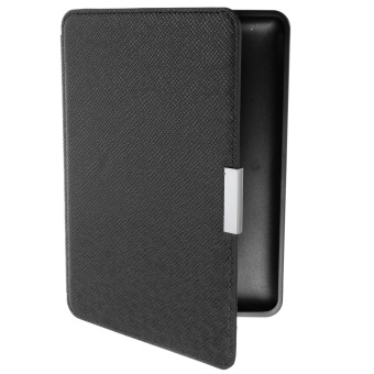 Harga Slim PU Leather Protection Smart Cover for Amazon Kindle (Black)