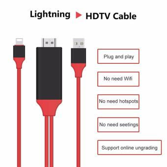 Harga LYBALL 1080P Lightning For 8Pin to HDMI Converter Adapter MHL To HDMI Cable HDTV Adapter USB Cable For iPhone 5 5S 6 6S 7 Plus 2m - intl