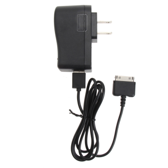 Harga VAKIND 1M 2A Wall Charger+USB Cable for Barnes & Noble Nook HD+ 9 Tablet(Black) - Intl