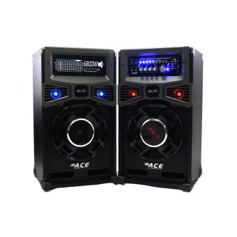 "Ace H107 10"" Highpower Professional Sub-woofer Actice Stage Speaker set with Amplifier Price Philippines"