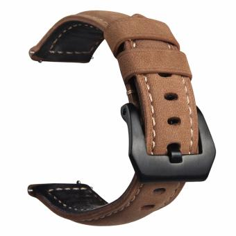 Samsung Gear S3 S2 Premium Leather Watchband Bracelet Strap for Samsung Gear S3 S2 (Khaki) Price Philippines