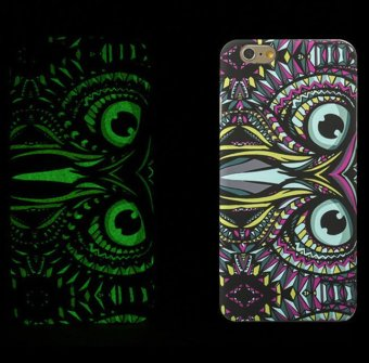 Harga LUXO Animal Case Glow in the Dark Hard Plastic Back Cover for iPhone 6/6S (Owl)