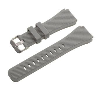 Sports Silicone Watchband for Samsung Gear S3 Classic / Frontier - Grey - intl Price Philippines