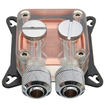 PC GPU Water Cooling Block Copper 4 Hole Compression Fitting Liquid Cooler W41 - Intl Price Philippines