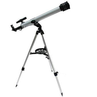 Harga F60700 Refractive 525 X Zoom Astronomical Telescope (700/60mm) Monocular Telescope for Astronomical Observation With 360 Degree Adjustable Aluminum Tripod - intl