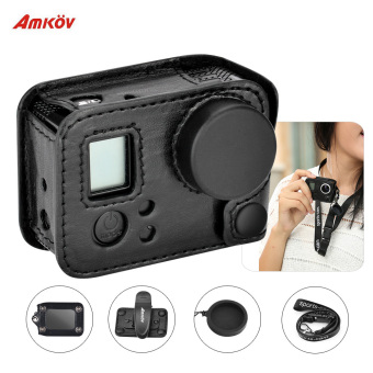 Amkov Multifunctional Clip-on Sports Camera Protecive Carrying Case Bag with Lanyard Lens Cap for Gopro 4/3+/3 or the Same Size Action Cam - intl Price Philippines