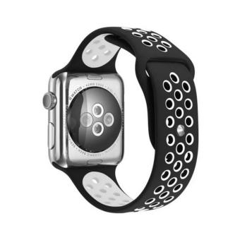 Bands for Apple Watch 38mm,Silicone Sport Straps Replacement Wristband Bracelet with Quick Release Buckle for Apple Watch Nike+, Series 2, Series 1, Sport, Edition - intl Price Philippines
