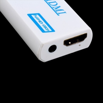 SeeedmallWii to HDMI for Wii 2HDMI Adapter Converter Full HD 1080P Output Upscaling + 3.5mm Audio Box - intl Price Philippines