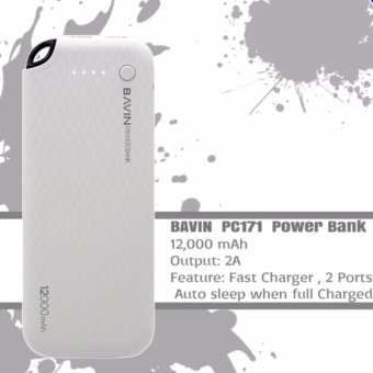 Harga BAVIN PC171 12000mAh Quick Charging Power Bank