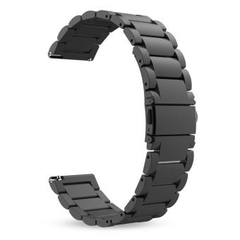 Stainless Steel Metal Replacement Smart Watch Strap Bracelet for Samsung Gear S3 Frontier / S3 Classic Smartwatch(Black) - intl Price Philippines