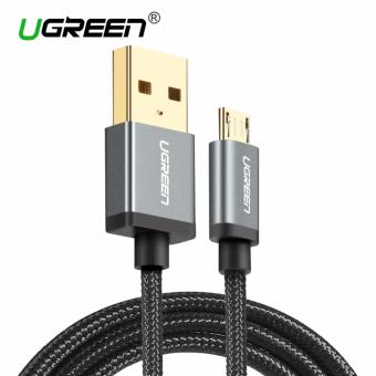 Harga UGREEN Nylon Braided Micro USB Cable Sync Data Charging Cable for Android,Samsung,Xiaomi,HTC,Sony - 2m,Black - intl