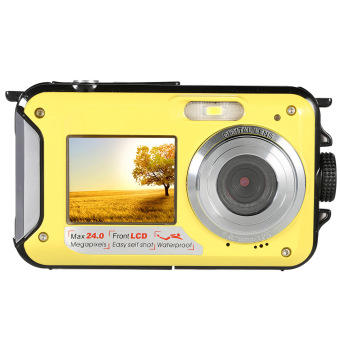 Amkov 24MP 16X Digital Zoom Digital Camera Camcorder Video Recorder Waterproof (Yellow)- Intl Price Philippines