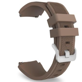Silicone Soft Sport Replacement Strap for Samsung Gear S3 Frontier/S3 Classic Watchband(Coffee) - intl Price Philippines