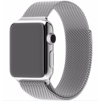 Harga New Milanese Loop Watch Strap For Apple Watch Band 38mm Silver link bracelet Stainless Steel Woven iwatch watchband - intl