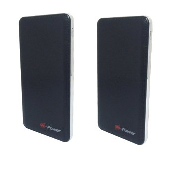 N-Power NP-033 8800mAh Slim Wallet Size Power Bank (Black) Set of 2 Price Philippines