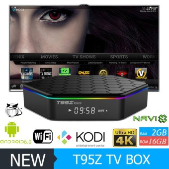 Harga T95Z Plus Amlogic S912 Android IPTV TV Box Octa core ARM Cortex-A53 2G/16G Android 6.0 TV Box WiFi BT4.0 2.4G/5.8G H.265 4K Play - intl