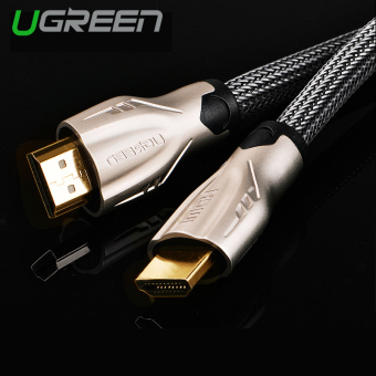 Harga UGREEN HDMI Cable Nylon Weaves with Zinc Alloy Metal Connector Support 3D 4K x 2K (10m) - Intl