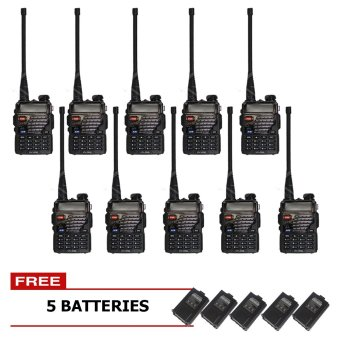 Baofeng / Pofung UV5RE VHF/UHF Dual Band Two-Way Radio Set of 10 (Black) with Free 5 Extra Batteries Price Philippines
