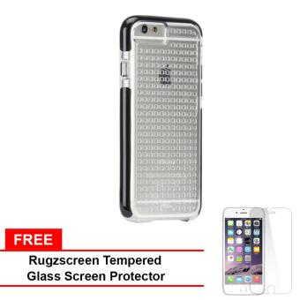 Casemate Tough Air Hard Plastic Case for iPhone 6 Plus (Clear/Black) With Free RugZscreen Tempered Glass Screen Protector Price Philippines