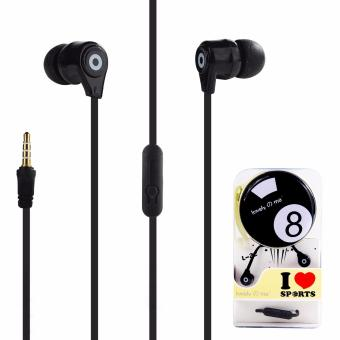 Harga Lovely Me Sports L-22 In-Ear Headphone Mic with Earphone Pouch (Black)
