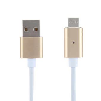 Harga VAKIND Metal Micro USB Plug Magnetic Charger Adapter Charge Cable (Gold)