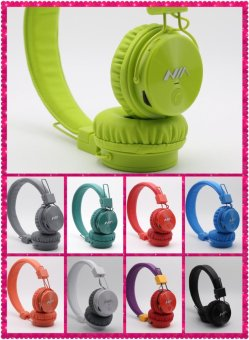 Nia-X3 Bluetooth Stereo Headset With Shinning Surface Tf Card Slot And Fm Radio Function (Blue) Price Philippines