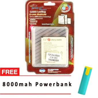 MSM HK Battery for Cherry Mobile CM-8D (THUNDER) WITH FREE 8,000 mah powerbank Price Philippines