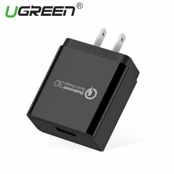 Harga UGREEN Qualcomm Certified Quick Charge 3.0 18W USB Wall Charger Phone Fast Charger - Black,US Plug - intl