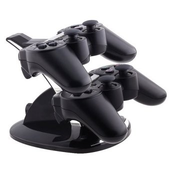 Harga LYBALL Dual USB Charger Dock Station Stand Charging for Sony Playstation PS3 Controller
