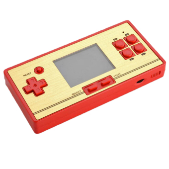 "FC Pocket 30th Anniversary Nostalgia Game Console Family Computer/ Gameboy with 2.6"" Color Screen Built-in 600 Games + 1 free Cartridge 128 Games (Gold/Red) Price Philippines"