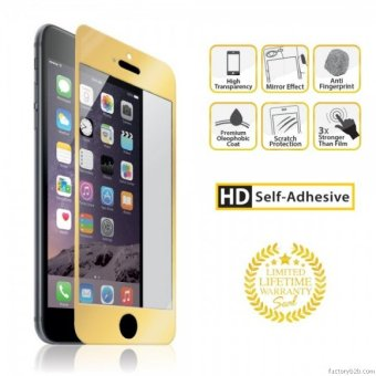 Harga Go Mobile Gears 2 in 1 Front & Back Nano Glass Protector Slim for iPhone 6/6s (Gold)