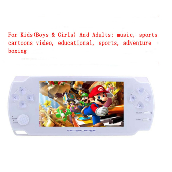 Fitzladd 4.3'' 8GB Kids Student Handheld Game Console with Ultra-Thin with Touch-Screen MP4 MP5 Player (White) - intl Price Philippines