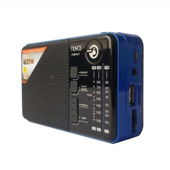 Harga Nuvos Compact Portable AM/FM Radio (Blue)