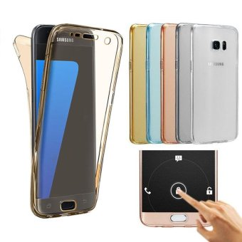 Harga PETREL 360�� Full Body Protect Soft Silicone Case Front + Back Cover for Samsung Galaxy S6 edge - intl